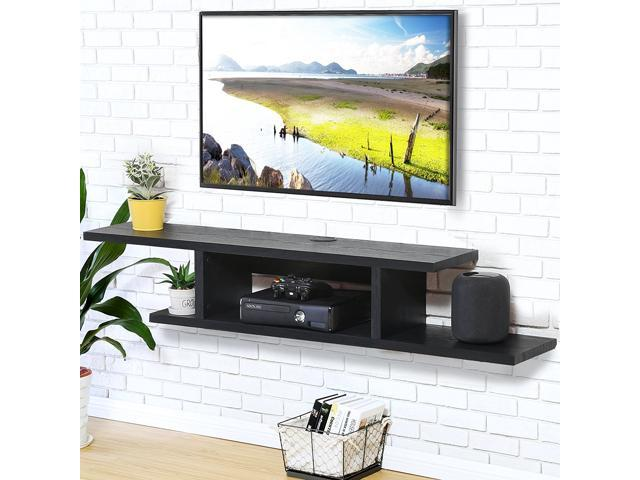 Playstation 4 Shelf Floating Entertainment Xbox One Wall Mounted Stand Best PS4