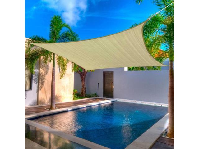 12 X 12u0027 FT Feet Square UV Heavy Duty Sun Shade Sail Patio Cover New