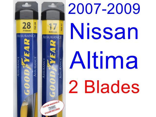 2007 2009 Nissan Altima Replacement Wiper Blade Set Kit Of 2 Blades