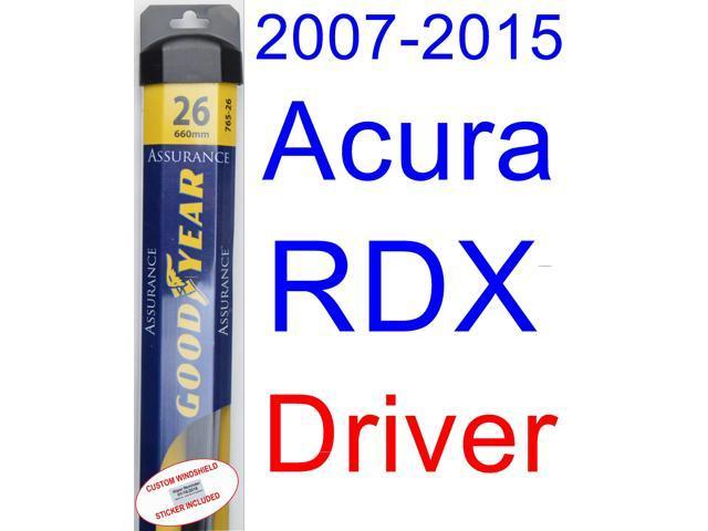 2007 2015 Acura Rdx Wiper Blade Driver Goodyear Wiper