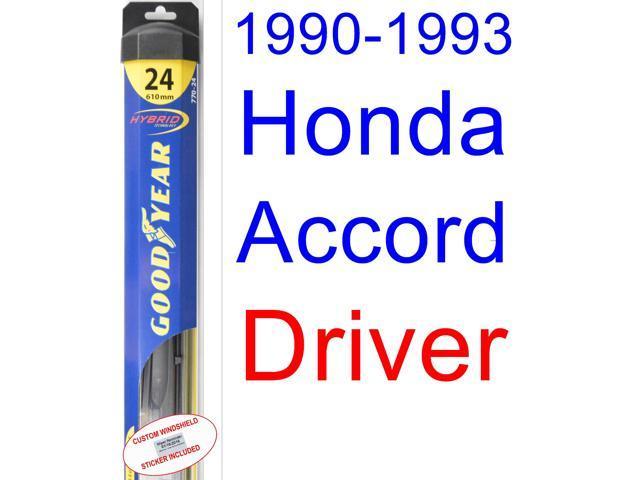1990 1993 Honda Accord Wiper Blade (Driver) (Goodyear Wiper Blades Hybrid