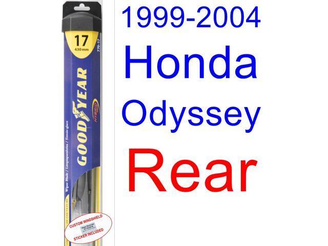 1999 2004 Honda Odyssey Wiper Blade (Rear) (Goodyear Wiper Blades Hybrid