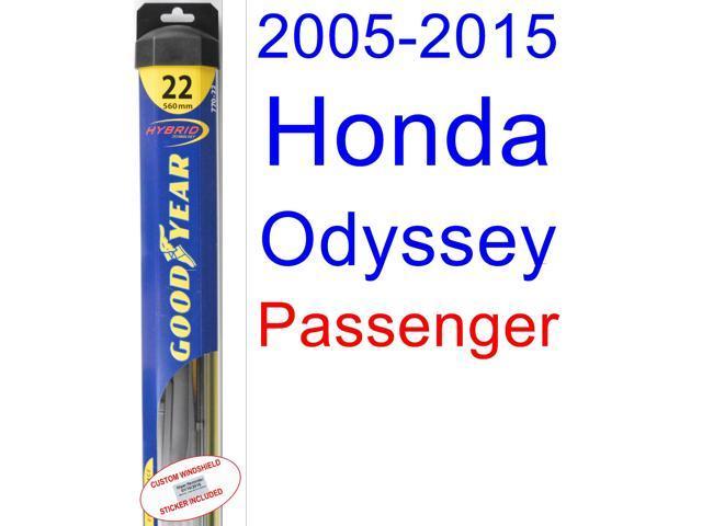 2005 2015 Honda Odyssey Wiper Blade (Passenger) (Goodyear Wiper Blades  Hybrid