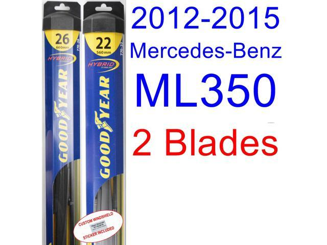 2017 Mercedes Benz Ml350 Replacement Wiper Blade Set Kit Of