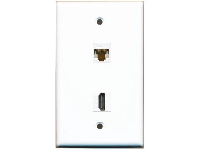 DVI-I Female//Female 1 Port Decora Style  Gold Plated  Ivory Wall plate
