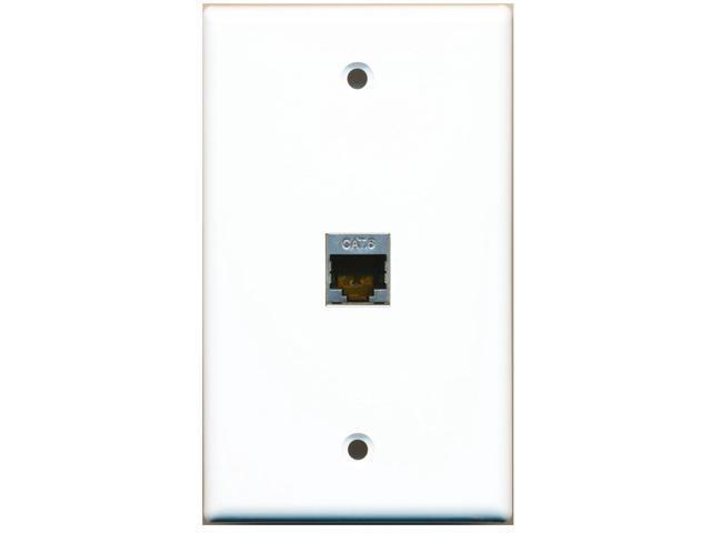 riteav - 1 port shielded cat6 ethernet wall plate