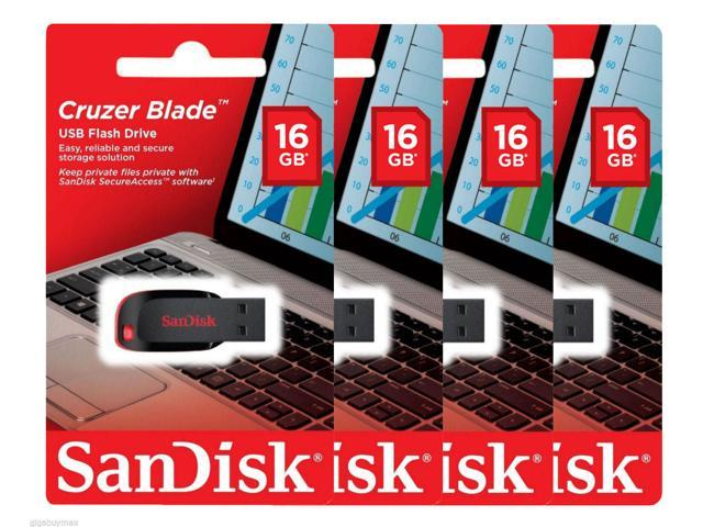 Lot of 10 SanDisk Cruzer Blade 8GB 8G USB 2.0 Flash Thumb Drive CZ50 Retail