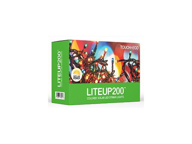 LITEUP200 Multi-Colored Solar String Holiday Lights - Newegg com