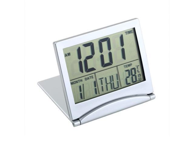 Calendar May Sia : Digital snooze alarm folding slim lcd desk clock date