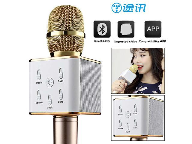 Blueskysea TUXUN Q7 Wireless Handheld Microphone Portable Karaoke Player Handheld Microphone Come Amplifier Speaker For Smart