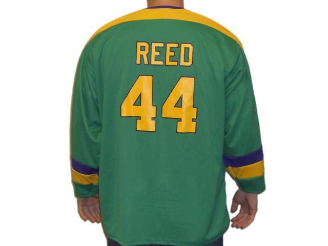 buy online 2ffff 09d6f Fulton Reed #44 Mighty Ducks Movie Hockey Jersey Bash Brothers Slap Shot  Costume - Adult Medium - Newegg.com