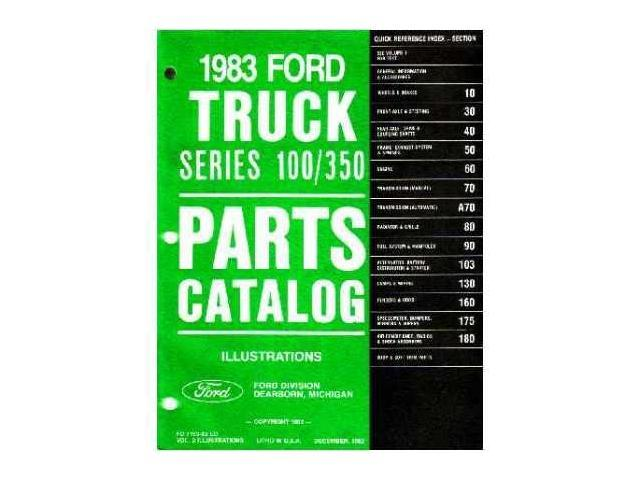 1983 Ford F100-F350 Truck Bronco Econoline Parts Numbers List Guide  Interchange - Newegg com