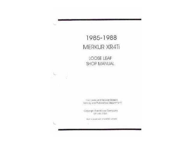 1985 1986 1987 1988 merkur xr4ti shop service repair manual book engine wiring - newegg.com 1986 merkur xr4ti wiring diagram 1986 chevy wiper wiring diagram