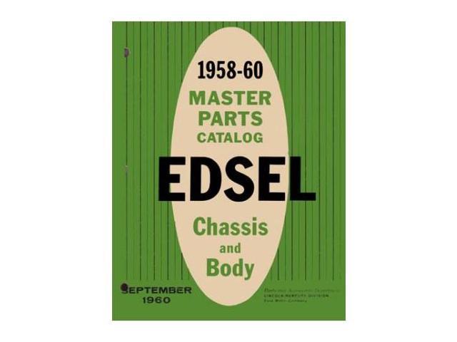 1958 1959 1960 Edsel Parts Numbers Book List Guide Catalog Interchange Factory