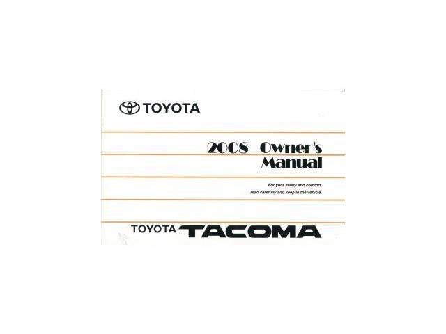2008 toyota tacoma owners manual user guide reference. Black Bedroom Furniture Sets. Home Design Ideas