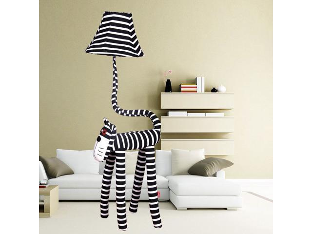 Cute Stripe Cat Children\'s Room Floor Lamp Cartoon Fabric Kid\'s Bedroom  Floor Lamps Baby Room Floor Light