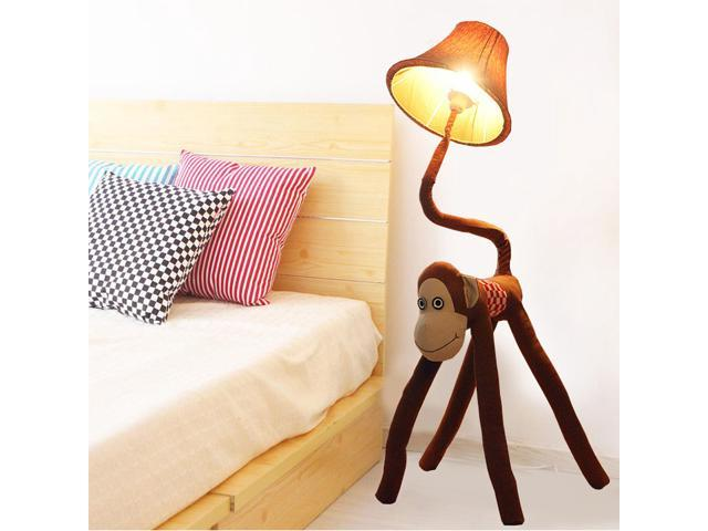 Creative Cartoon Fabric Monkey Baby Room Floor Lamps Cute Kid S Light Boy Bedroom Lamp
