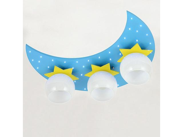 Cartoon Moon Stars Children\'s Bedroom Ceiling Lamp Cute Baby Room LED  Ceiling Lamps Boy Girl Room Ceiling Light