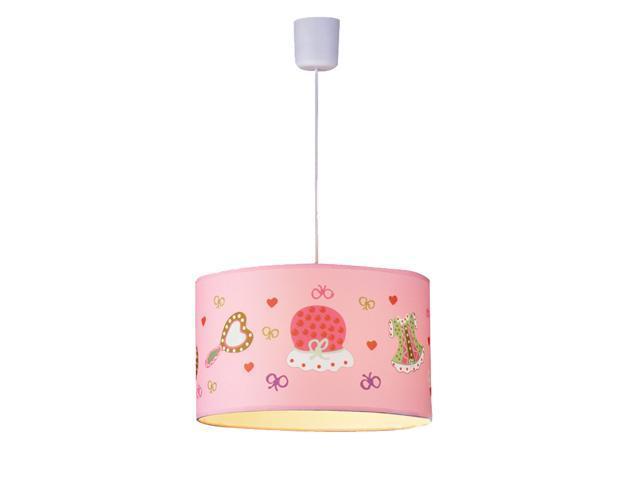 Pink Fabric Princess Bedroom Pendant Lamps Creative Children\'s Room Girl\'s  Room Cartoon Pendant Light Fixtures