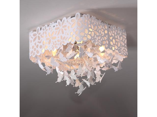 Romantic Crystal Girl\'s Room Ceiling Lamps Hollow Butterfly Bedroom Ceiling  Lights Restaurant Ceiling Lamp Fixtures - Newegg.com