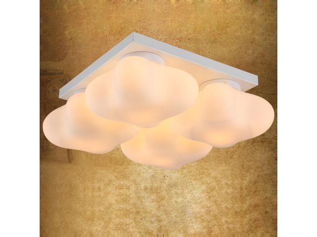 3 Lights Glass Clover Kid\'s Room Ceiling Lamps Light Cute Bedroom Ceiling  Lights Study Room Fixtures Lamp