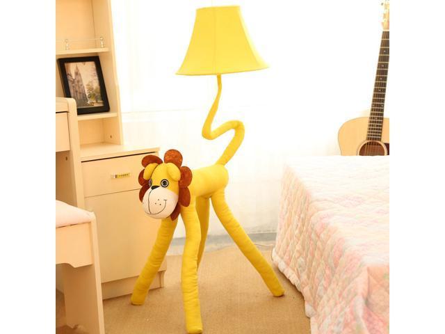 Yellow Cartoon Lion Floor Lamp Kid\'s Room Floor Lamp Cute Fabric Baby Room  Floor Lights Children\'s Bedroom Floor Lamps