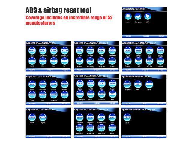 Foxwell NT630 Elite OBD2 Scanner ABS SRS Airbag SAS Reset Crash Data
