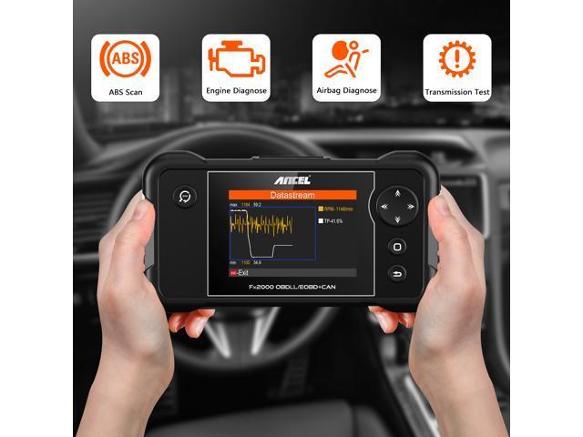 Ancel FX2000 OBD2 Scanner Transmission ABS Airbag SRS Check Engine Light  Code Reader Four System OBD II Automotive Diagnostic Tool Support 46 Brands