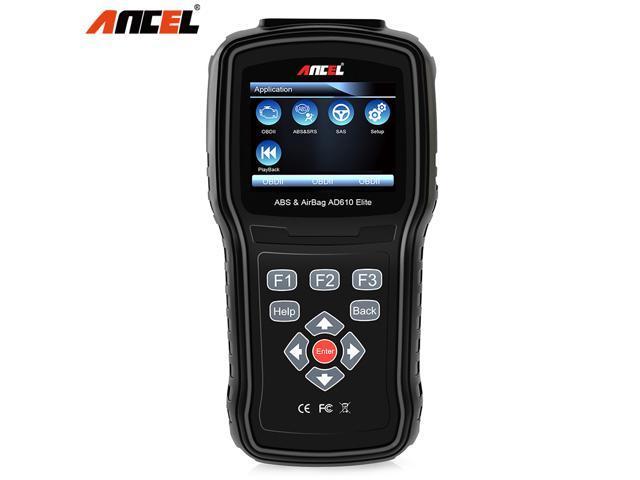 Ancel AD610 Elite OBD2 Scanner ABS SRS (Airbag) Reset SAS Check Engine  Light Erase Fault Code Reader OBD 2 Automotive Diagnostic Scan Tool, Black  -