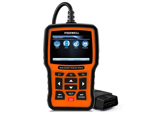 Foxwell NT510 OBD2 Scanner for BMW MINI Rolls-Royce Support Oil Reset  Transmission SRS ABS EPB DPF SAS Air Conditioning System ASR Check Engine  Light