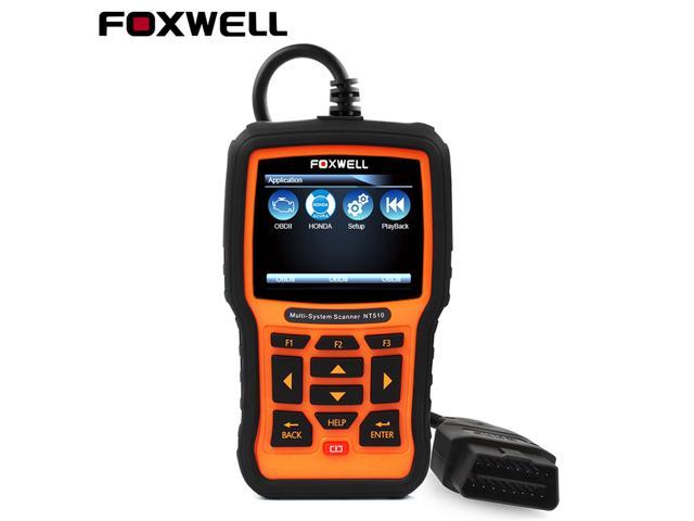 Foxwell NT510 OBD 2 Scanner for Honda Acura Oil Service Reset Transmission  ABS SRS Airbag SAS EPB DPF Air Conditioning System ASR Check Engine Light