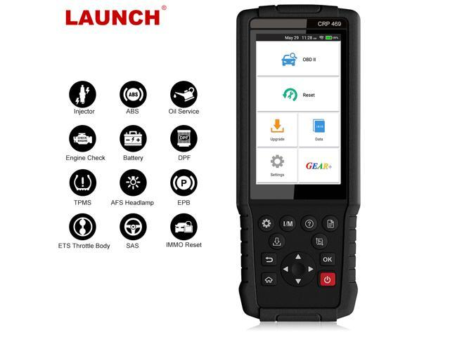 Launch CRP469 OBD2 Scanner Support Oil Lamp Brake Pad TPMS DPF SAS Reset  Battery Matching Injector Coding ABS Bleeding Immo Programming OBD 2