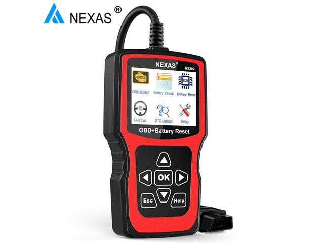 NEXAS NS202 OBD2 EOBD Scanner Tester Battery Health Battery Registration  SAS Calibration for BWM MINI Check Engine Code Reader OBD 2 Diagnostic Scan