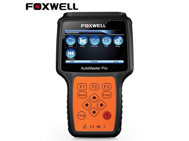 Foxwell NT624 OBD2 Scanner Full System EPB Oil Service Reset Transmission  Read & Clear ABS Airbag SAS SRS Codes ESP/ECS Car Audio Check Engine Light