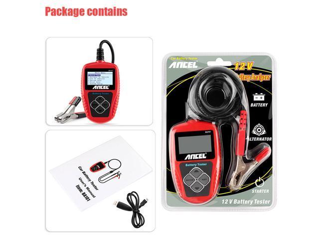 ANCEL BA101 Testeur de Batterie Professionnel 12 V 100-2000 CCA 30AH-220AH...