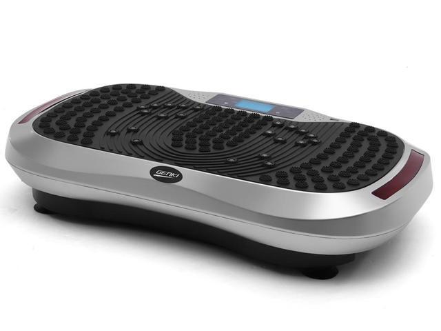 GENKI Bluetooth Vibration Platform Fitness Machine with 2 Bands &Remote -  Silver - Newegg com