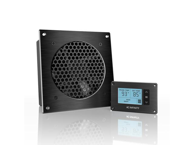 Ac Infinity Airplate T3 Quiet Cooling Fan System With Thermostat Control For Home Theater