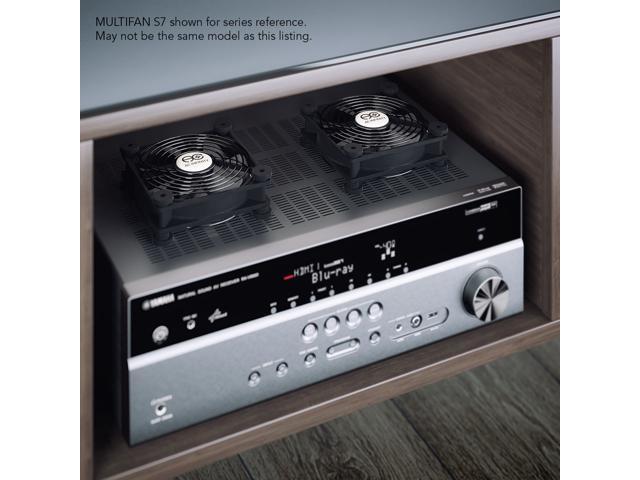 AC Infinity MULTIFAN S5 Quiet Dual 80mm USB Fan for Receiver DVR Playstation...