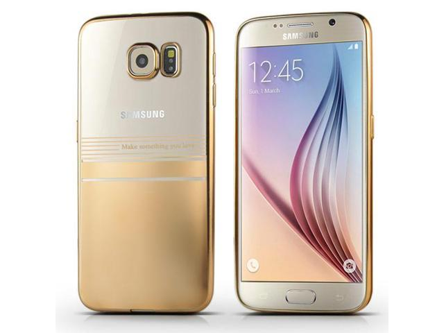 Luxury Transparent Clear Plated Soft TPU Back Case Cover For Samsung Galaxy  S6 G920 - Half Transparent Half Gold - Newegg com