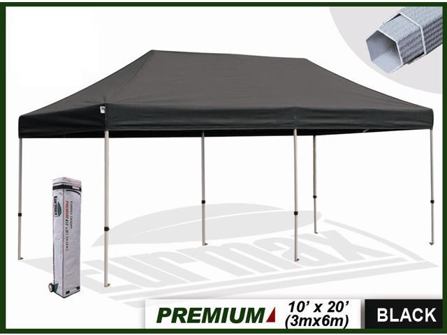 Eurmax Premium 10 X20 Market Stall Ez Up Canopy Pop Up Tent Black Newegg Com