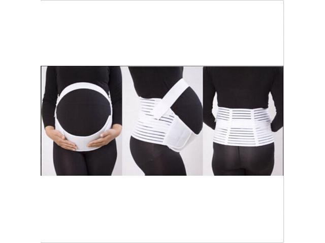 Black White Pregnancy Maternity Abdominal Back Support Strap Belt Belly Band