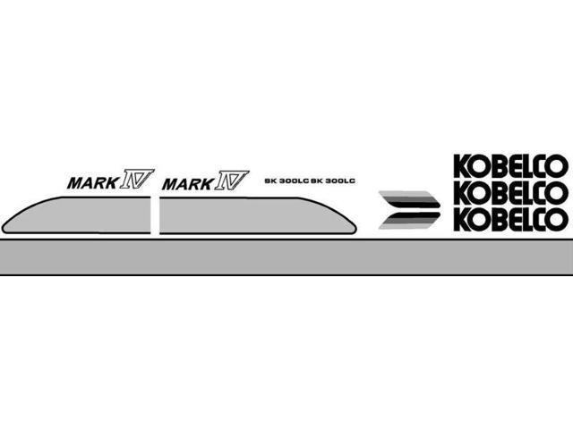 Decal Set with Mark IV Decals Made For Kobelco SK 300LC Excavator -  Newegg com