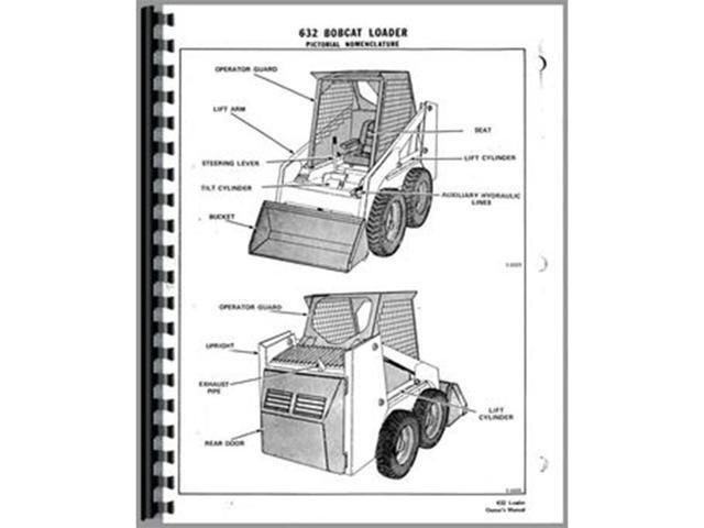 BC-O-600 New Operator Manual Made to fit Bobcat Skid Steer Loader Model 632  - Newegg com