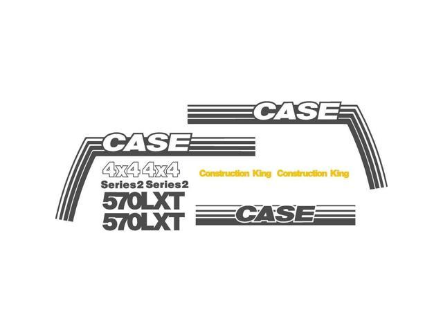 New Decal Set for Case Backhoe 570 LXT Construction King 4x4 Series 2 Made  with 7-9 Year Outdoor Vinyl - Newegg com