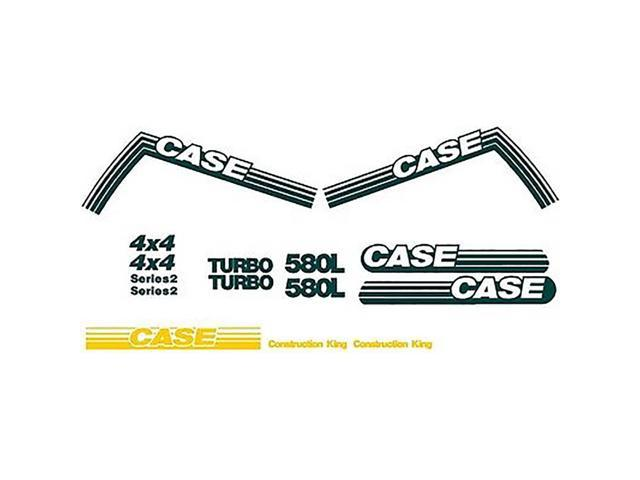 New Case 580L Construction King Backhoe Loader Decal Set Turbo Series 2 -  Newegg com