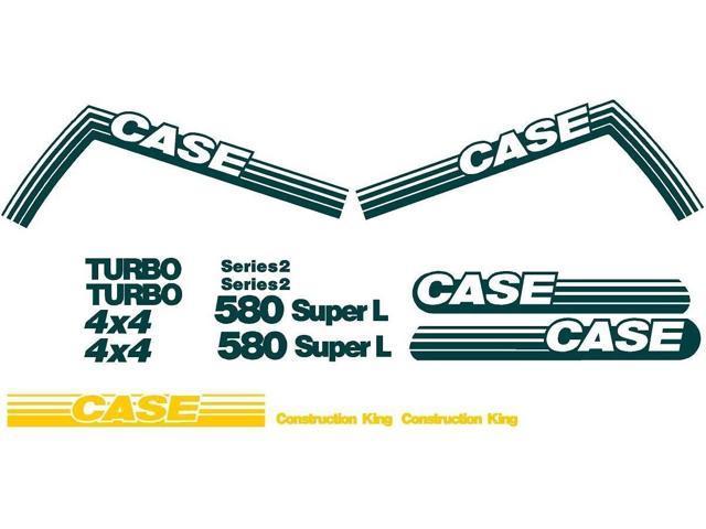 Case 580D Loader backhoe Set Vinyl Decal Sticker Aftermarket