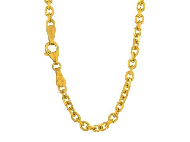 962d4895ab183 JewelStop 14k Solid Yellow Gold 2.3 mm Cable Chain Necklace, Lobster Claw  Clasp - 30