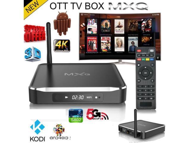 MXQ M10 OTT TV Box Android 4 4 Quad Core 4K Fully Loaded Kodi XBMC Media  Internet 2G RAM/8G ROM,Bluetooth 4 0 Dual Band Wifi 2 4G/5G Metal Case with
