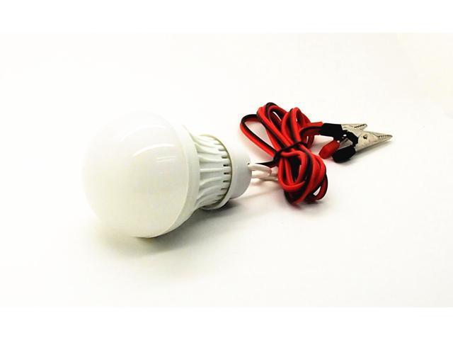 Dc 6 Volt 3 Watt Led Light Bulb Pure White 6400k Emergency Lamp 6v 1 Meter