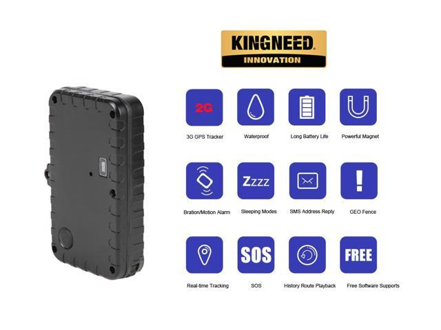 KingNeed Mini Magnet Portable Real-time GPS Tracker/ IPX7 Waterproof/ 90  days Working Day in Sleep Mode/ Geo-fence/ GSM Home Alarm/ for Personal and